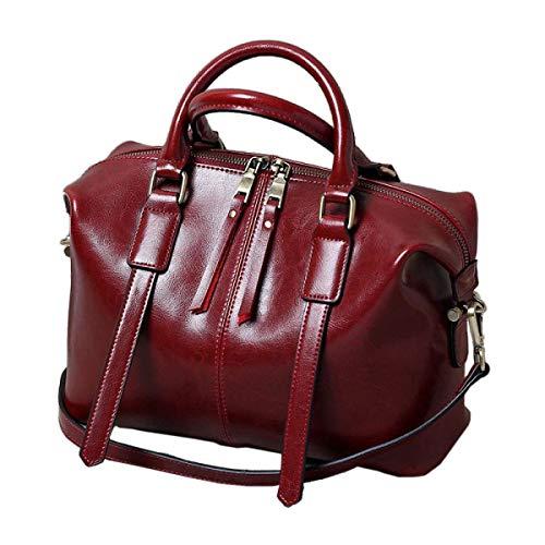 Moontang Borsa a tracolla per donna Borsa a tracolla per donna Borsa a tracolla per donna (Colore : Rosa, Dimensione : Medium) Rosso