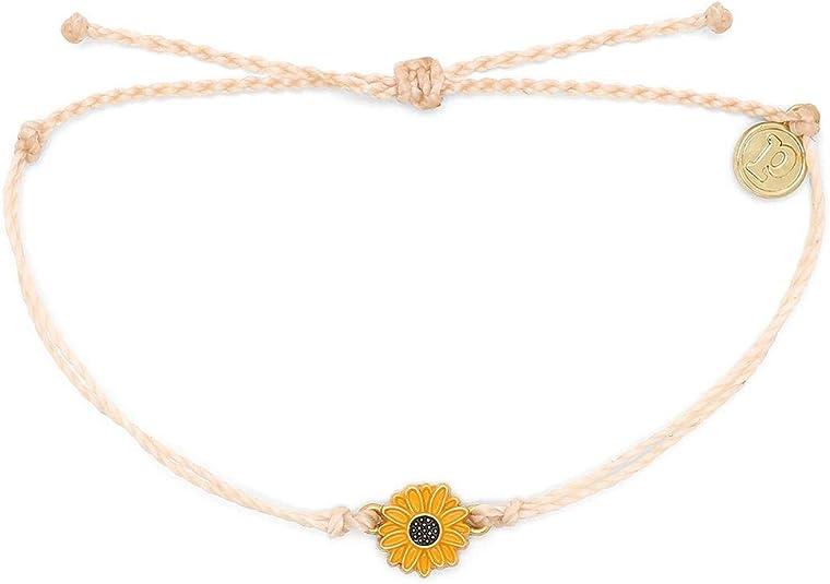 Golden Sunflower Bracelet - Adjustable Band, Waterproof