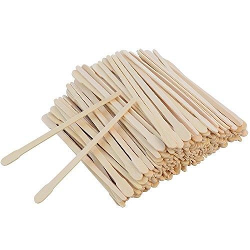 500 Pcs Wax Spatulas Sticks, Bantoye Wax Applicator Wood Craft Sticks for Hair Eyebrow Removal