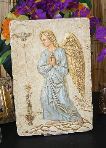(Archangel Gabriel of Mercy Praying Wall Relief in Color)