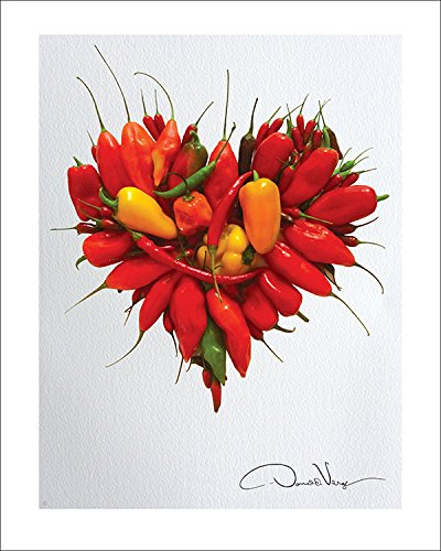LOVE - Red Hot Chili Peppers Heart Poster Print. 11x14 Great For Framing. Best Quality Gifts From The Heart Collection. Unique Birthday, Christmas & Valentines Gifts for Women, Men & Kids of All Ages