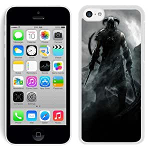 5C case,The Elder Scrolls Warrior Mountain Cold Sky White iPhone 5c cover