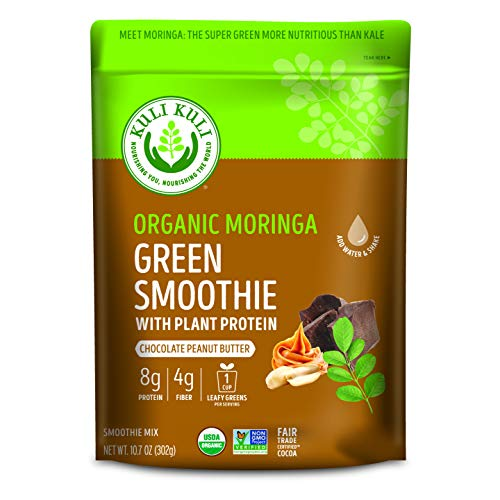 KULI KULI Moringa Green Smoothie Protein Chocolate Peanut Butter, 10.8 Ounce