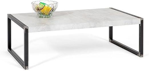 Mobili Fiver, Luxury Mesa Auxiliar de salón, melamina/Metal ...