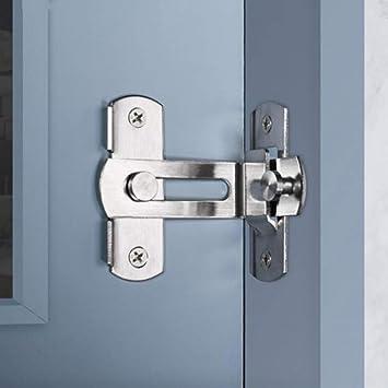 Pestillo para puerta de 90 grados, ángulo recto, con hebilla, perno deslizante, barril con tornillos para puertas de inodoro y ventanas: Amazon.es: Bricolaje y herramientas