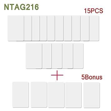 Amazon.com: 20 tarjetas NFC Ntag216 de PVC IC de 13,56 mhz ...