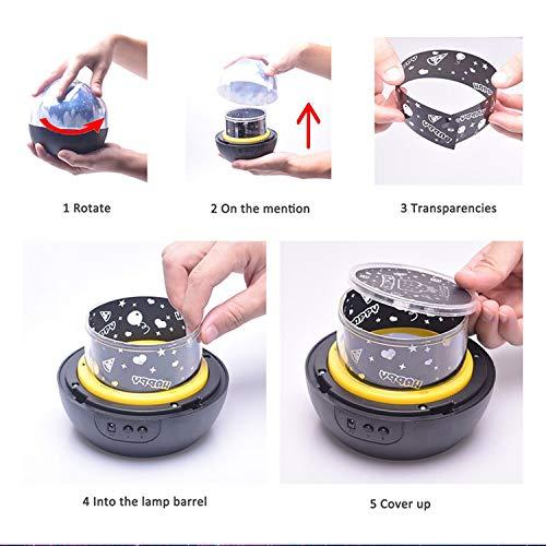 Gosear Moda 360 Grados de rotación Brillo Ajustable LED luz de la ...