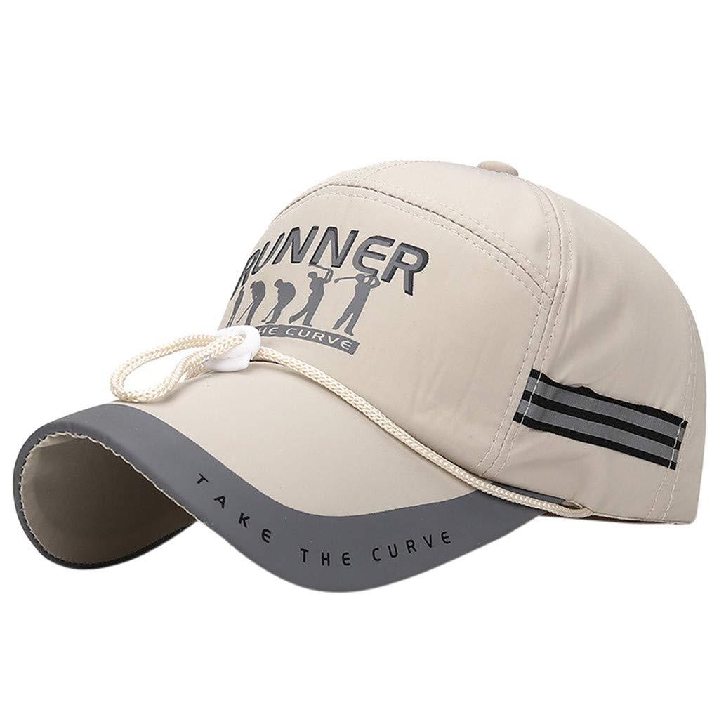Winkey Casquette de Sport en Filet avec Bande R/éfl/échissante Pliable Respirant Chapeau de Coureur Cr/ème Solaire S/échage Rapide pour Hommes Femmes
