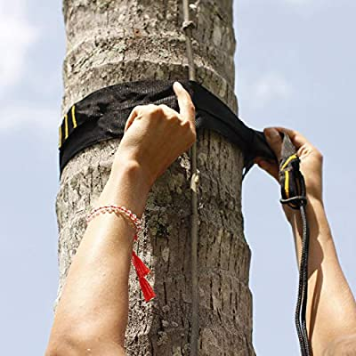 Ticket to the Moon Fair Trade & Handmade Moonstraps for Tree-Friendly Installation [2 Pcs] 9 Fastening Loops for Smooth Handling, Breaking Load 700-800kg, In and Outdoor, 10Y. Warranty, Tested Quality : Sports & Outdoors