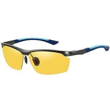Gafas De Sol De Cambio De Color De Conducción Para Hombres Espejo Polarizado Bicolor Inteligente,