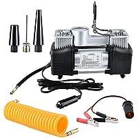 xlpace Inflador digital portátil para pneu de carro 12 V 150 PSI bomba de ar de cilindro duplo compressor para carro…
