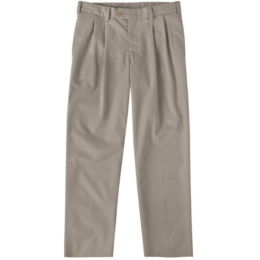 Bills Khakis Mens M2 Classic Fit Pleated Travel Twill Wrinkle//Stain Resistant Pants