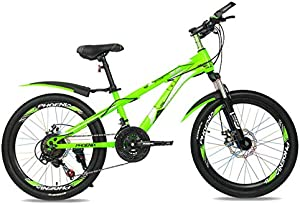 BAOMEI Kids Bike 22 Inch Mountain Bike, High Carbon Steel Mountain Bike, with Adjustable Front Seats, 21 Speed