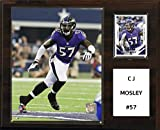 "NFL Baltimore Ravens C.J. Mosley Player Plaque, 12""x15"""