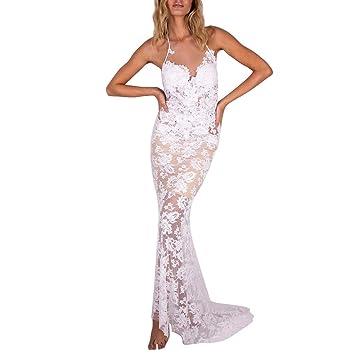 ღLILICATღ Mujer Vestido de Noche Vestidos De Fiesta Blanco ...