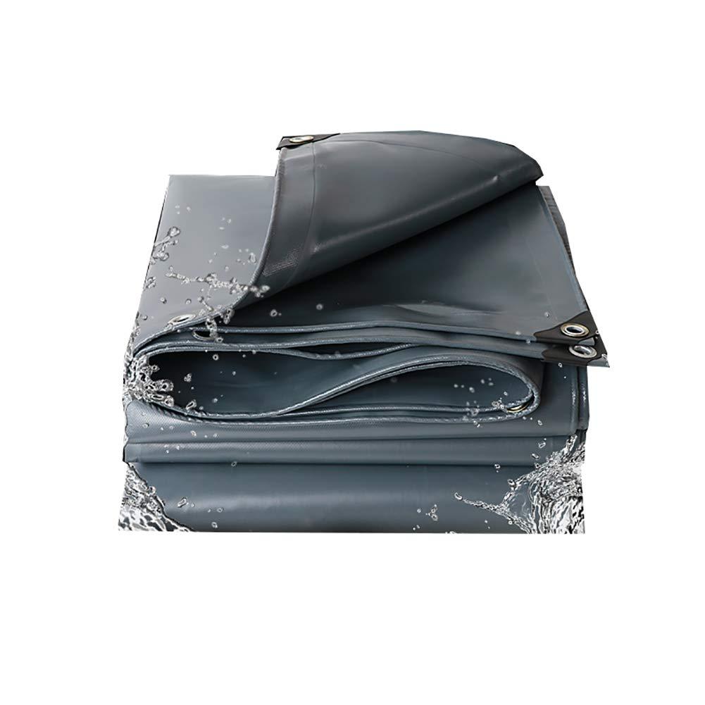 WZLDP épaissie PVC imperméable à la Pluie écran Solaire crème Solaire imperméable au Vent bÂche imperméable au Couteau Trois auvent en Toile Couteau auvent en Toile à gratter Tissu Anti-UV  4×5