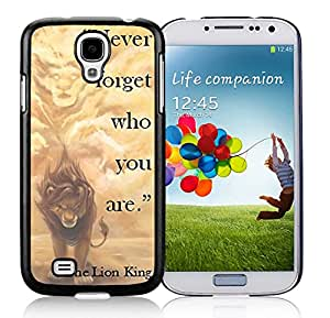 Beautiful Custom Designed Cover Case For Samsung Galaxy S4 I9500 i337 M919 i545 r970 l720 With Lion King Samsung Galaxy S4 Black Phone Case 250