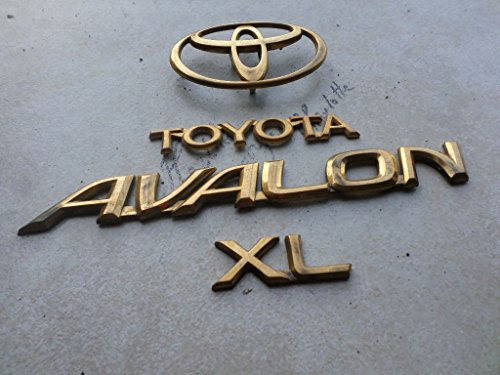 01 Toyota Avalon XL Tailgate Factory Gold Emblem 75442-AC010 Logo 75443-07020 Nameplate Decal Set ( SKU 6720 (Avalon Gate)