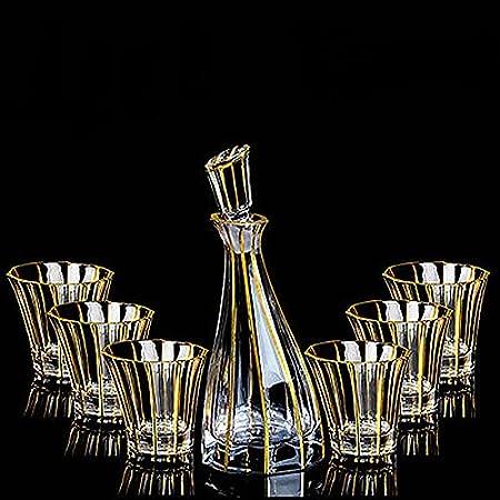 ★ Cristal de whisky Muti-usado: conjunto de decantadores de vidrio lujoso y versátil, adecuado para