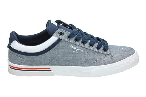 Pepe Jeans North Court Chambray, Zapatillas para Hombre: Amazon.es: Zapatos y complementos