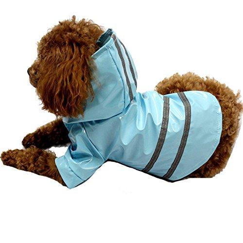 SlimArmor(TM) 5 Colors Pet Dog Raincoat Waterproof Dog Clothes Reflective Stripe Puppy Hoodie Coat For Chi -hua -hua [ Blue S ] -  3c-32832888617-Pets-Cloth-Blue-S