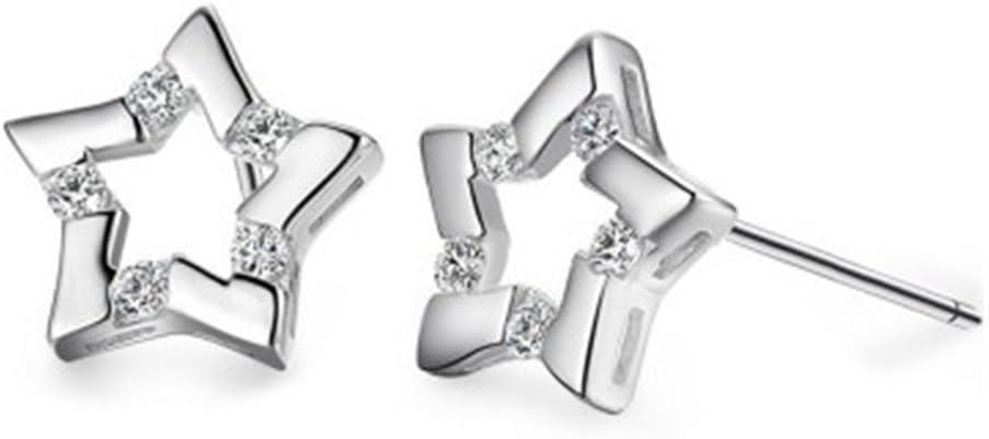 Demarkt 1par Pendientes Aretes Moda Estrellas Perno reluciente Pendientes Regalo Mujer Niña (Oro)