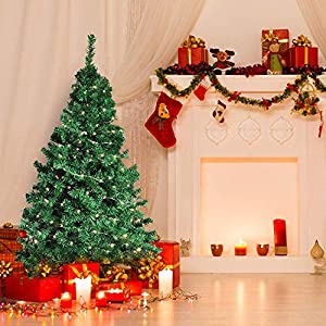 Dporticus 7 Ft Artificial Christmas Pine Tree with Solid Metal Legs and Anti-dust Bag Holiday Season 3
