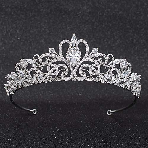 Sepbridals CZ Cubic Zirconia Classic Wedding Bridal Diadem Tiaras Crown for Hair Accessories CH10316