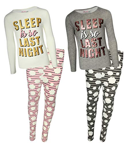 dELiA*s Girls Yummy Pajama Sleepwear Sets (2 Full Sets) (10/12, So Last Night)'