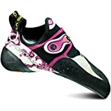 La Sportiva Solution Athletic Sneaker Climbing Shoe - White / Pink - Womens - 40