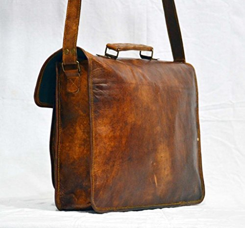 Messenger of Leather Vintage Leather Laptop Bag, Messenger Bag. 11'' x 15'' x 3.5'' by Messenger of Leather (Image #2)