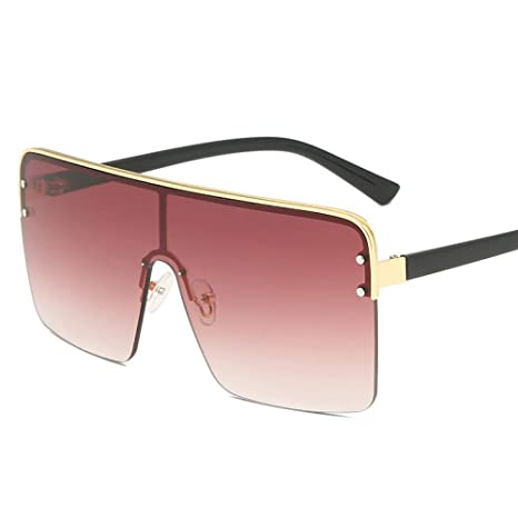Yangjing-hl Gafas de Sol gradientes de Caja Grande siamesas ...