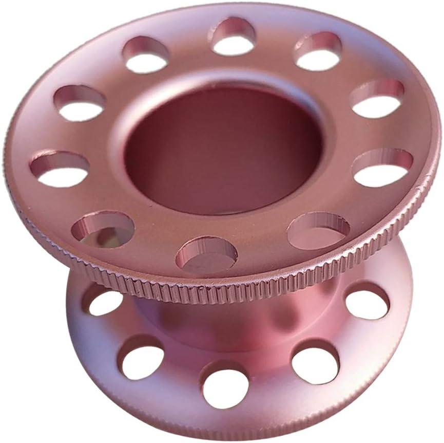 Mini Carrete De Gu/ía para Buceo Snorkel de Aleaci/ón de Aluminio 5.5 x 3.5 cm Multi-Colores Opcionales Negro