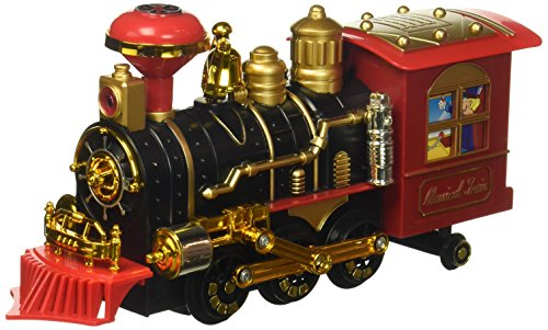 Classical Locomotive Battery Operated Bump And Go Toy Train W  Smoking Action  Real Train Horn  Working Headlight  Colors May Vary