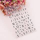 YULEKITO Capital Lowercase Art Letters Clear Stamps