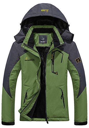 83a1fb86a9 Wantdo Women s Waterproof Mountain Jacket Fleece Windproof Ski Jacket  (B00NHO1IP2)