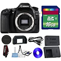 Canon 80D DSLR Camera + 16 GB SDHC Memory Card + Camera Body Cap + 6 PC Cleaning Kit - International Version