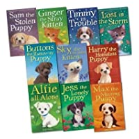 Holly Webb 10 Books Set Pack Puppy and kitten Collection (Timmy in Trouble, Max the Missing Puppy, Sam the Stolen Puppy, Buttons the Runaway Puppy & more)