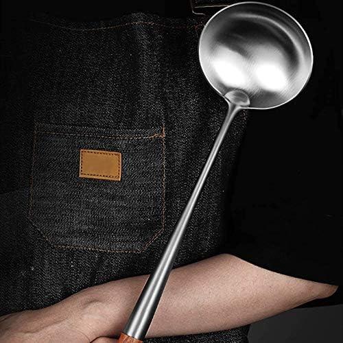 17 Inches Spatula for Wok Steel Wok Spatula CURTT Wok Spatula and Ladle Tool Set
