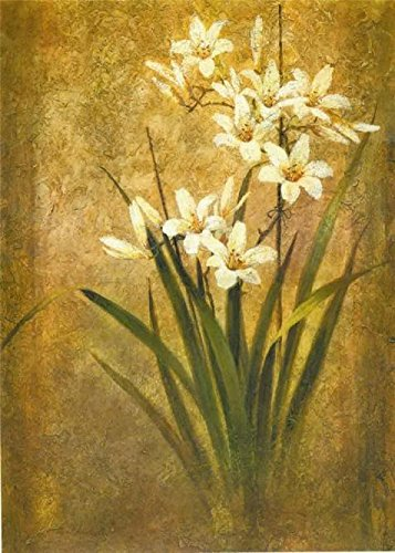Oil Painting 'Tan Chun - Orchid Study', 30 x 42 inch / 76 x 107 cm , on High Definition HD canvas prints is for Gifts And Bar, Kids Room And Living Room Decoration, onreviews (Tan Chun Lily)