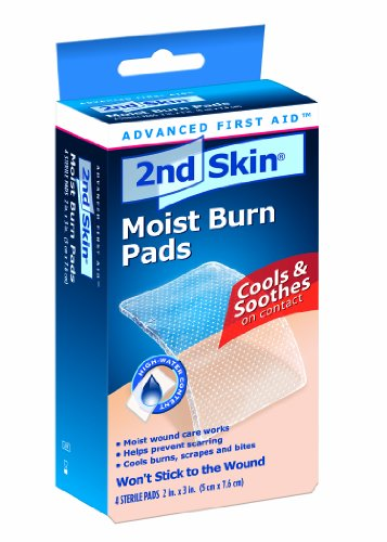 Spenco 2nd Skin Moist Burn Pads,  2 x 3 Inches,  4-count (Moist Pads)
