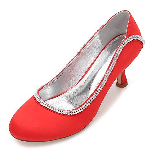 T Encaje Red 17061 yc Mujer Satén 47 De Gatito Novia L Boda Tacón Zapatos Bajo IPAxqwcxaT