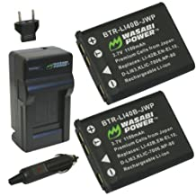 Wasabi Power Battery (2-Pack) and Charger for Fujifilm NP-45, NP-45A, NP-45B, NP-45S and Fuji FinePix J10, J12, J15, J15fd, J20, J25, J26, J27, J30, J35, J38, J40, J100, J110W, J120, J150W, J210, J250, JV100, JV105, JV150, JV155, JV160, JV200, JV205, JV250, JV255, JX200, JX205, JX250, JX255, JX280, JX300, JX305, JX350, JX355, JX360, JX370, JX375, JX380, JX400, JX405, JX420, JX500, JX520, JX530, JX540, JX550, JX580, JX590, JX660, JX680, JX700, JX710, JZ100, JZ110, JZ200, JZ250, JZ260, JZ300, JZ305, JZ310, JZ500, JZ505, JZ700, L30, L50, L55, T200, T205, T300, T305, T310, T350, T360, T400, T410, T500, T510, T550, T560, XP10, XP11, XP15, XP20, XP21, XP22, XP30, XP31, XP50, XP60, XP70, Z10fd, Z20fd, Z30, Z31, Z33WP, Z35, Z37, Z70, Z71, Z80, Z81, Z90, Z91, Z100fd, Z110, Z115, Z200fd, Z250fd, Z300, Z700EXR, Z707EXR, Z800EXR, Z808EXR, Z900EXR, Z909EXR, Z950EXR, Z1000EXR, Z1010EXR