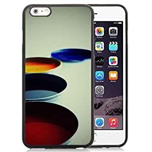 "Beautiful iPhone 6 Plus 5.5"" TPU Cover Case ,Colorful Painting Bowl Black iPhone 6 Plus 5.5"" TPU Phone Case Unique And Durable Designed Screen Case"