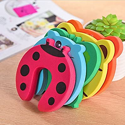 5pcs Child Finger Protector//Pinch Finger Guard Holoras Foam Door Stoppers Animal Safety Animal Cushion Hinge Door Stop