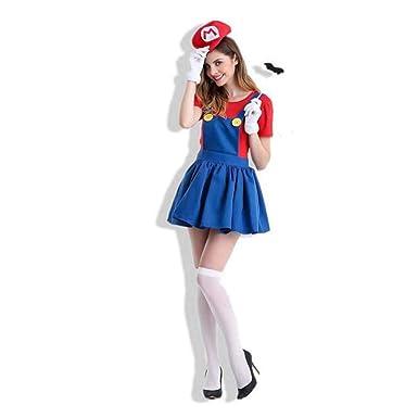 NEWYIH Halloween Anime Juego Uniforme Cosplay Super Mario Disfraz ...