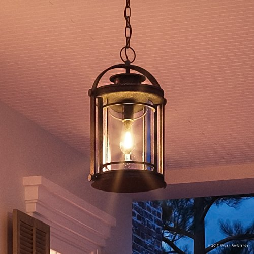 (Luxury MidCentury Modern Outdoor Pendant Light, Medium Size: 18