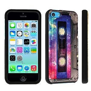 DuroCase ? Apple iPhone 5c Hard Case Black - (Vintage Cassette Tape)