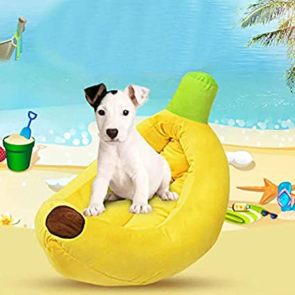 WSS Perro nido plátano pequeño perro lavable medio perrera del animal doméstico colchonetas para perros y