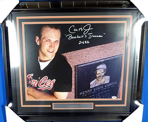 Cal Ripken Jr. Autographed Framed 16x20 Photo Baltimore Orioles